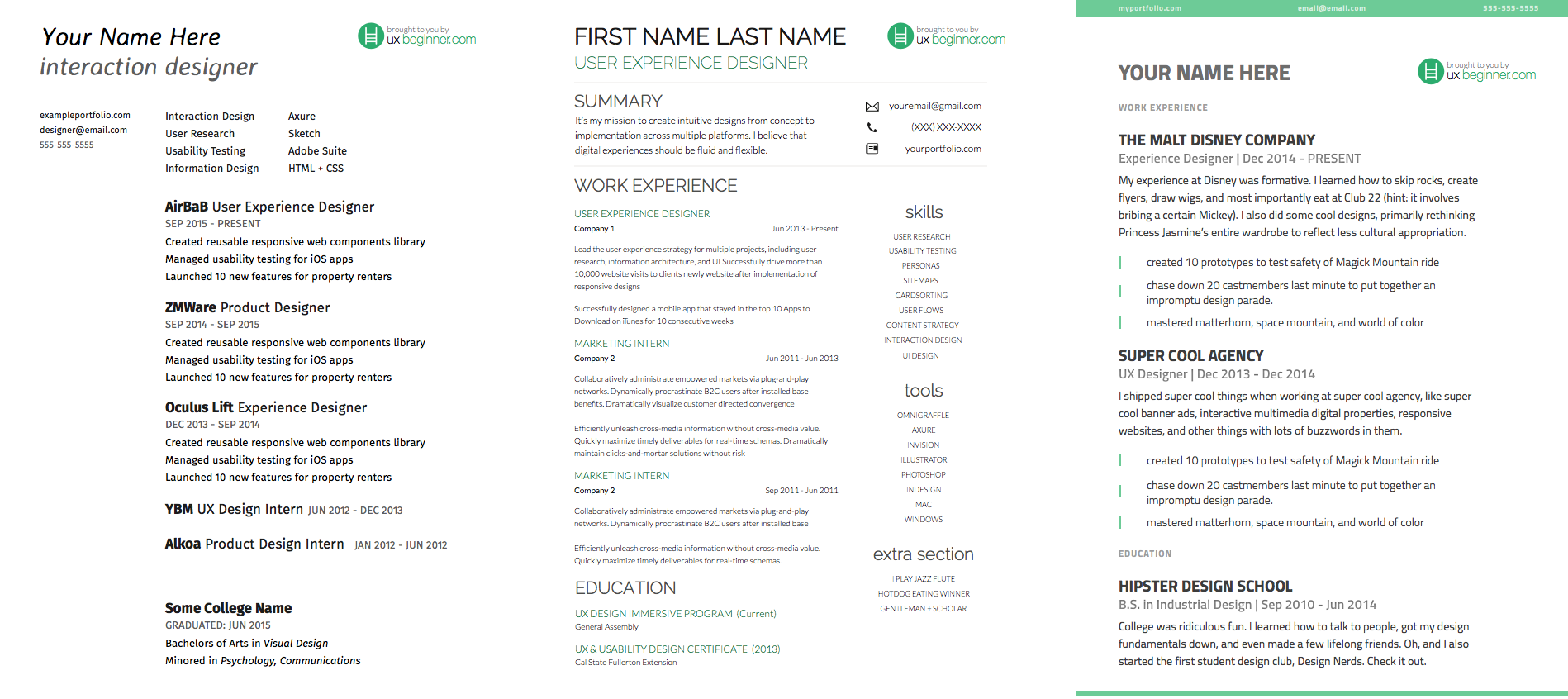 complete guide to ux resumes   3 free templates