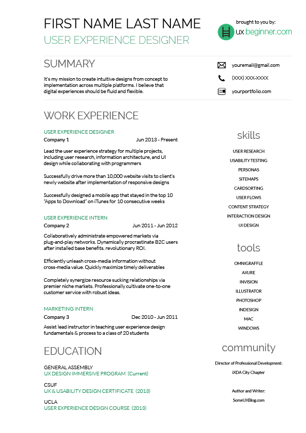 resume template completely free