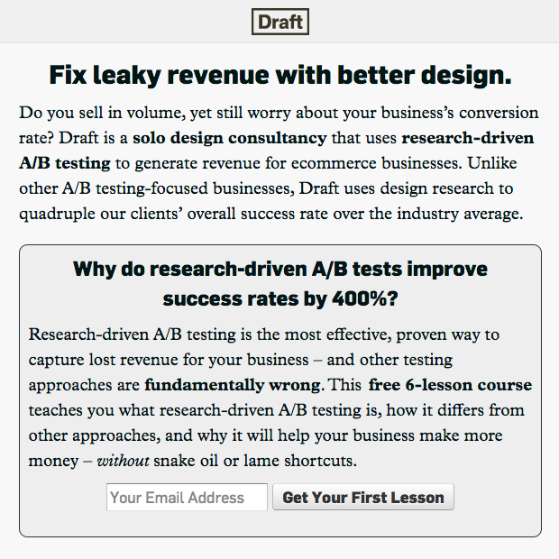 ux conversion centered design - encapsulation - draft