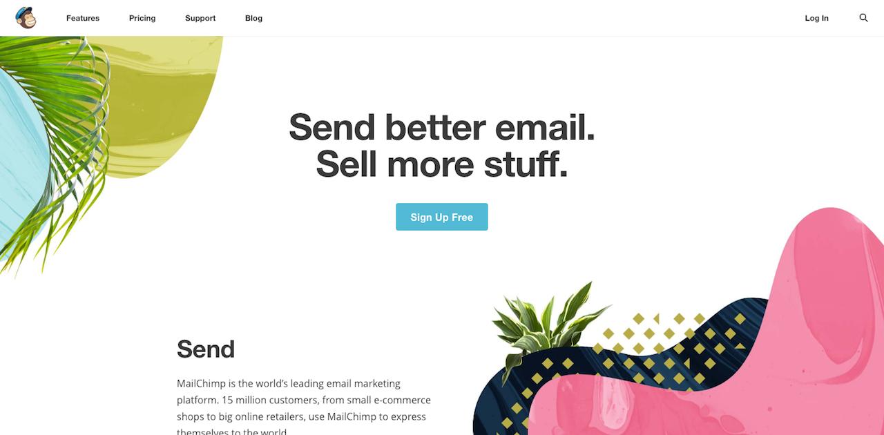 ux conversion centered design - simplicity mailchimp
