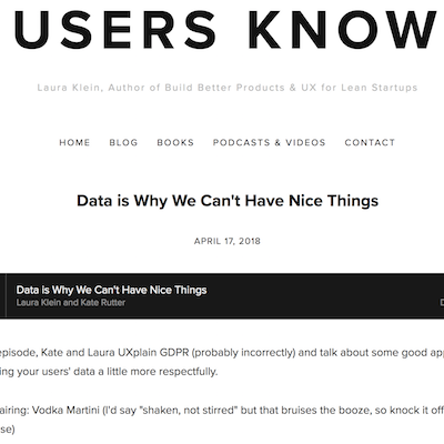 list-best-ux-podcasts-users-know-laura-klein-kate-rudder