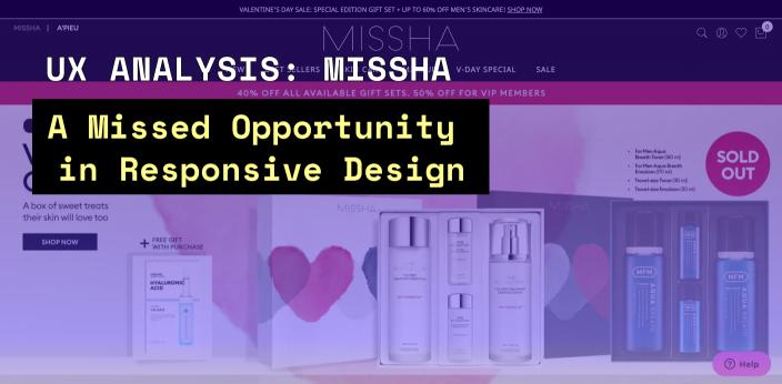 UX-ANALYSIS-MISSHA-ECOMMERCE-WEBSITE-responsive